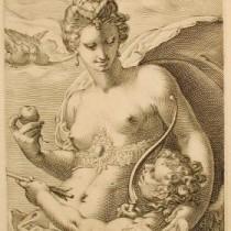 Jan Pietresz Saenredam, Venus. Engraving, undated. Gift of Norman Leitman and Todd Butler, 2004.177