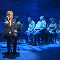 Photo credit: Jenn Colella (left) and the cast of La Jolla Playhouse's world-premiere musical COME FROM AWAY, book, music and lyrics by Irene Sankoff and David Hein, directed by Christopher Ashley, running May 29 – July 12 in the Sheila and Hughes Potiker Theatre; photo by Kevin Berne.